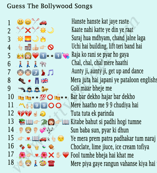 WhatsApp Puzzle Guess The Bollywood Songs