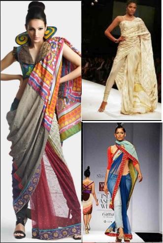 latest saree draping style