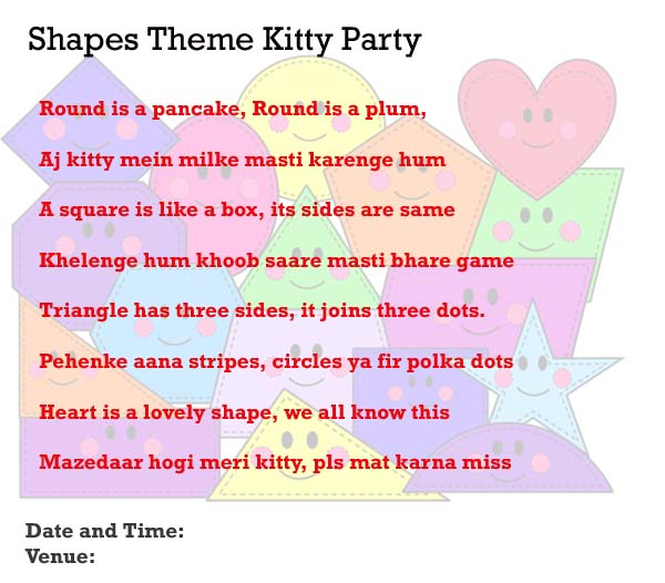 Kitty Party Invitation Ideas For Indian Kitty Party