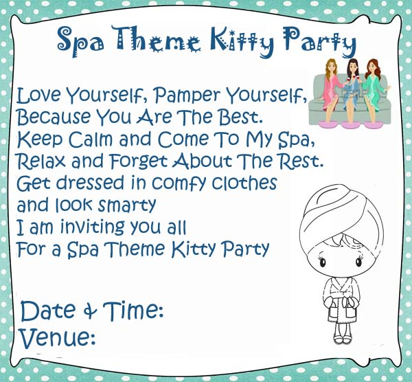 Spa Theme Kitty Party Games and Ideas
