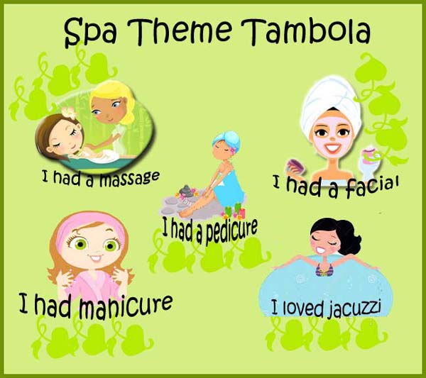 spa theme tambola game for ladies kitty party