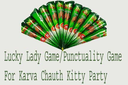 Lucky Lady Game/Punctuality Game Karva Chauth Kitty Party