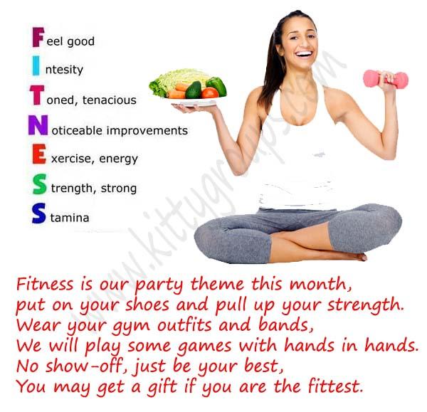 kitty theme fitness invitation