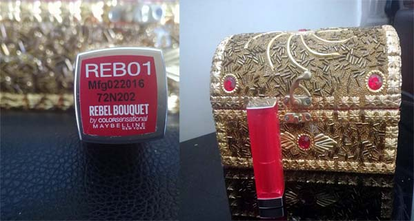 maybelling rebel reb01 lipstick review