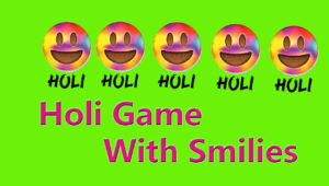 one minute holi party game