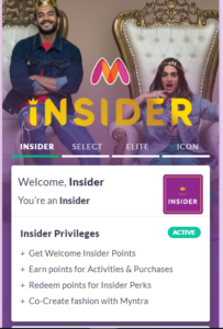 Myntra Insider Loyalty Program is live now