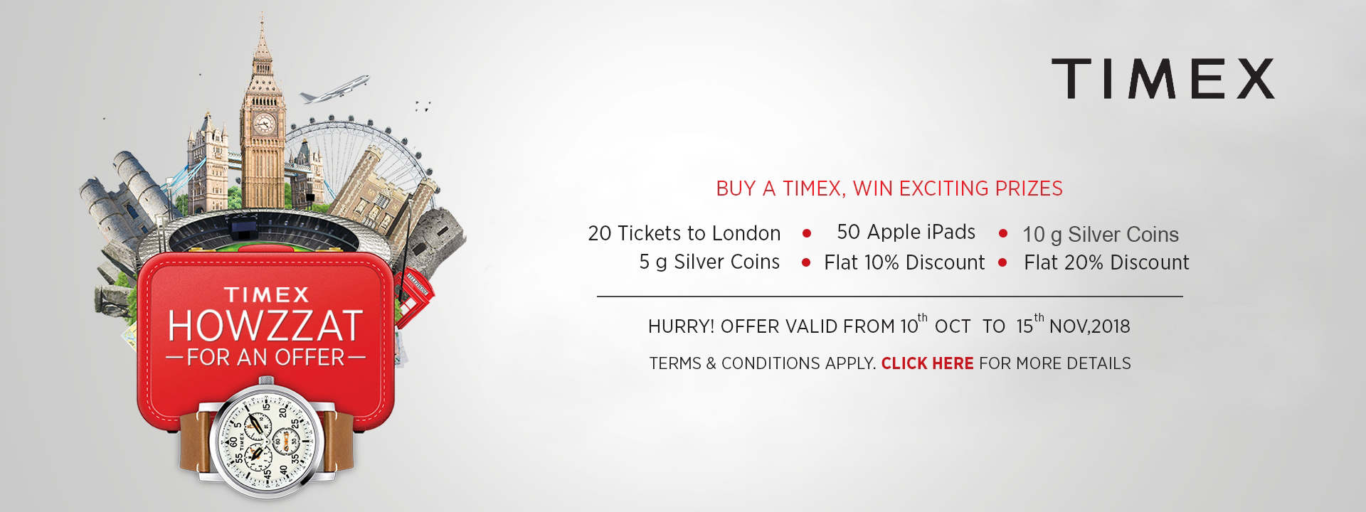 Your Dream Trip to London Begins with A Timex