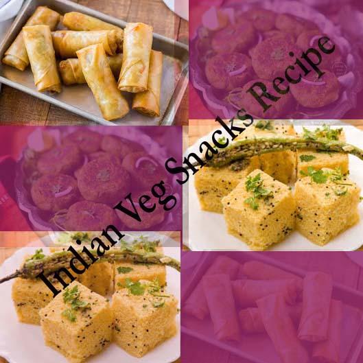 indian veg snacks recipes