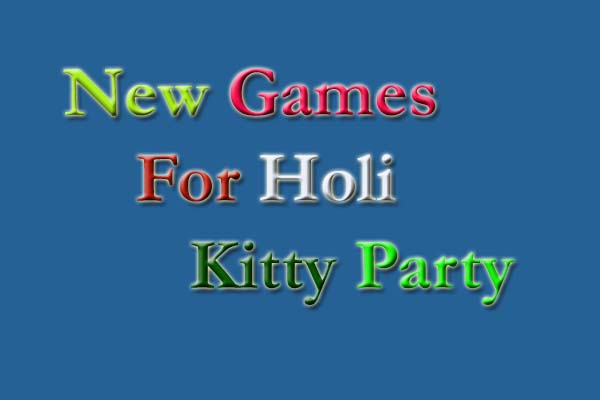 new holi kitty party games
