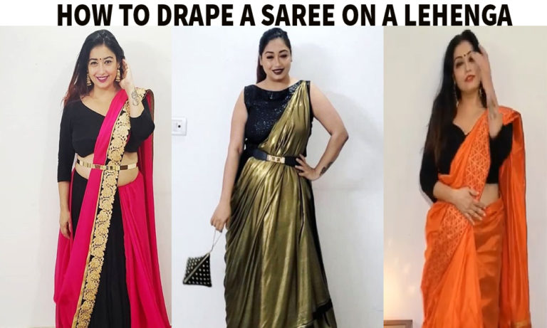 3 Styles to Drape Saree On a Lehenga / Skirt