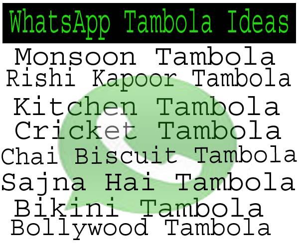 Best Tambola Ideas For WhatsApp Tambola