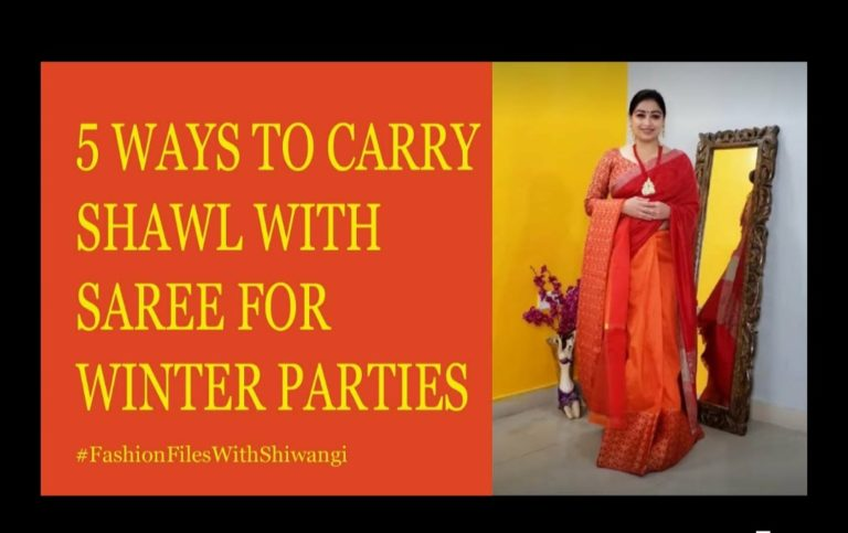 How to Style Shawl With A Saree| Best Saree Drape Ideas